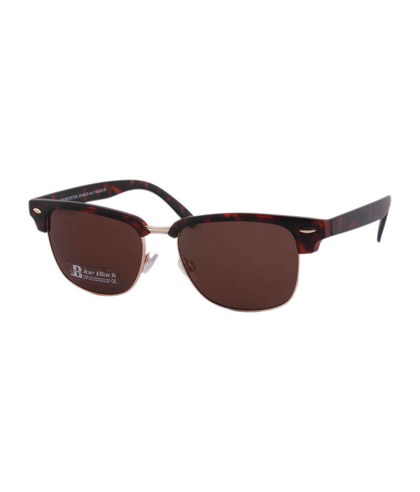 Joe Black Brown Wayfarer Sunglasses (JB-580-C3)