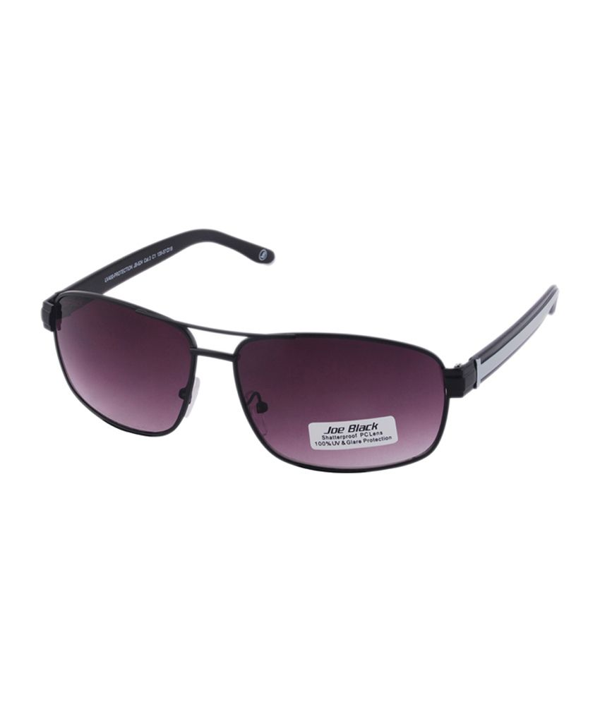 Joe Black Purple Rectangle Sunglasses (JB-624-C1)