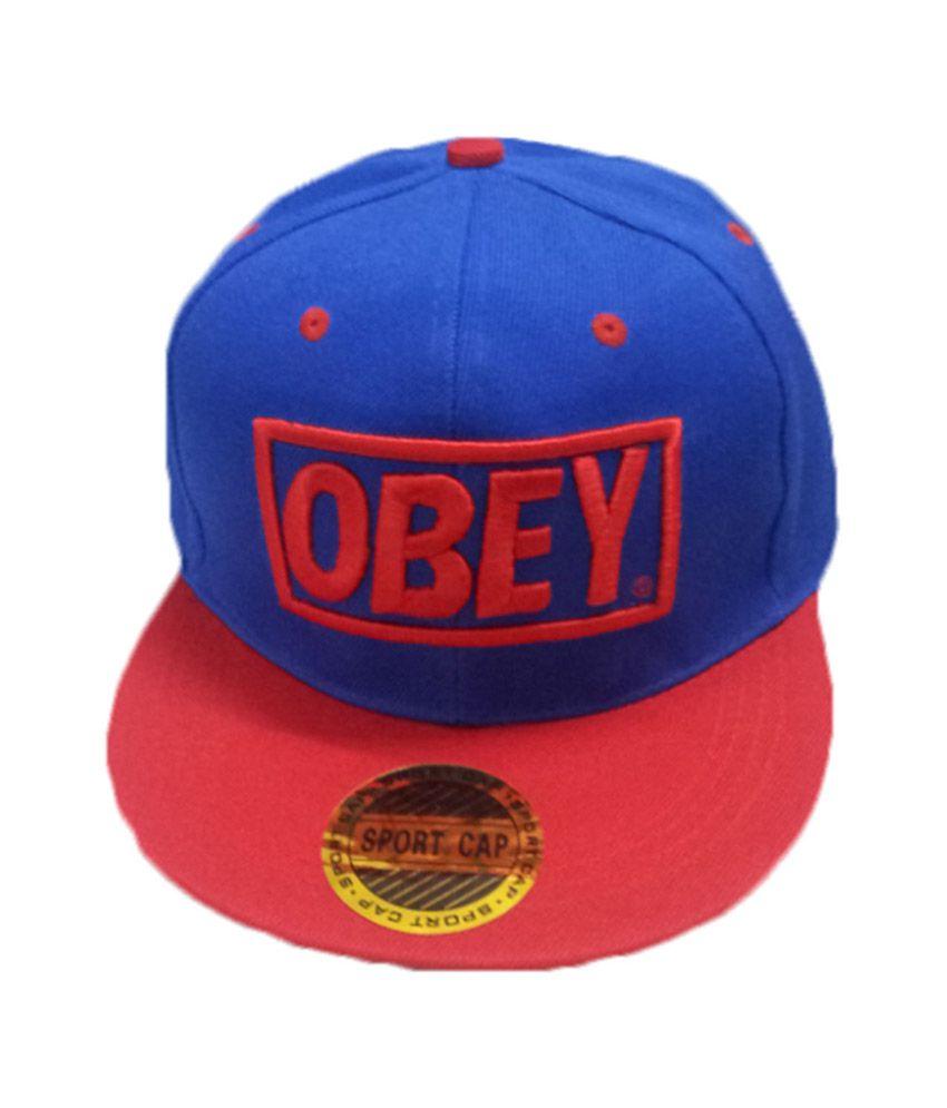 Crazy Deal Blue Cotton Obey Hip Hop Men Cap