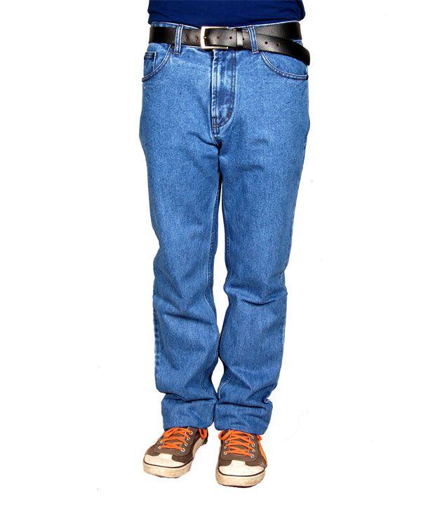 Snap Cotton Blue Jeans
