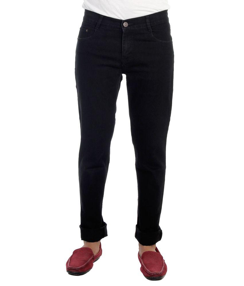 Haltung Streachable Black Cotton Blend Denim Jeans