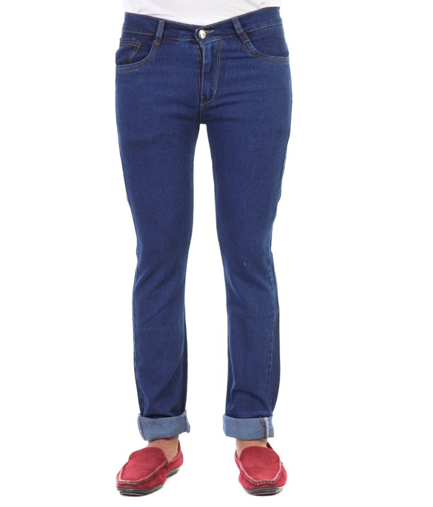 Haltung Streachable Dark Blue Cotton Blend Denim Jeans