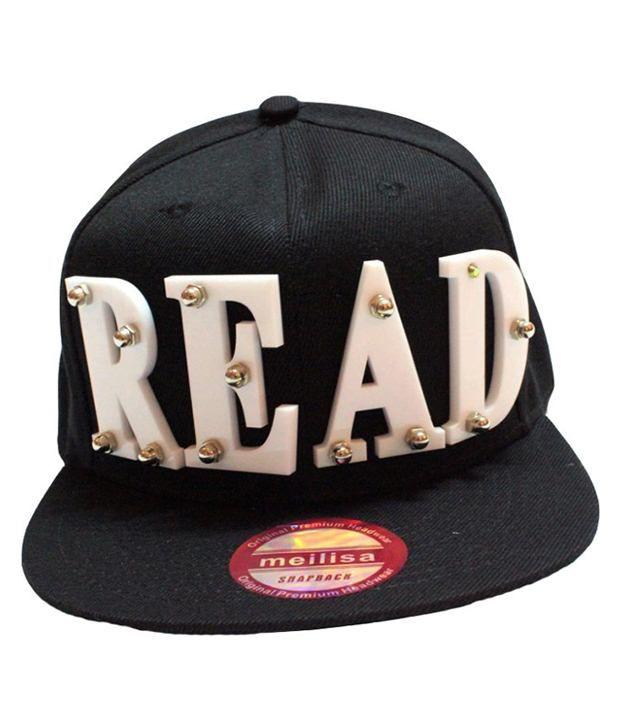 TakeInCart Black Read 3D Snapback Hip Hop Cap - Buy Online   Rs ... e001c7b98c3