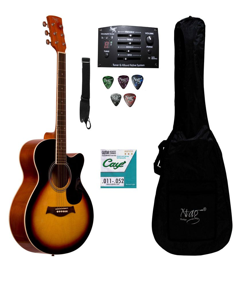 xtag semi acoustic electric guitar with inbuilt equilizer and tuner buy xtag semi acoustic. Black Bedroom Furniture Sets. Home Design Ideas