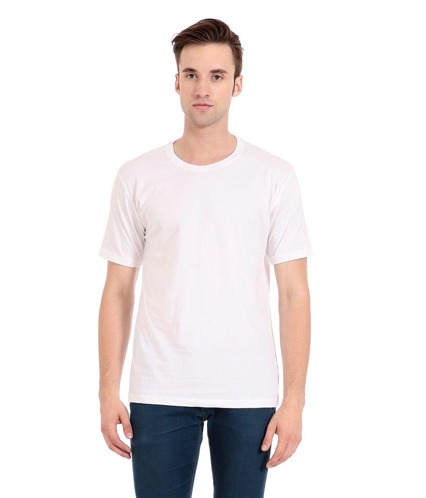 Zeug Fashion White Cotton Round Neck T-shirt