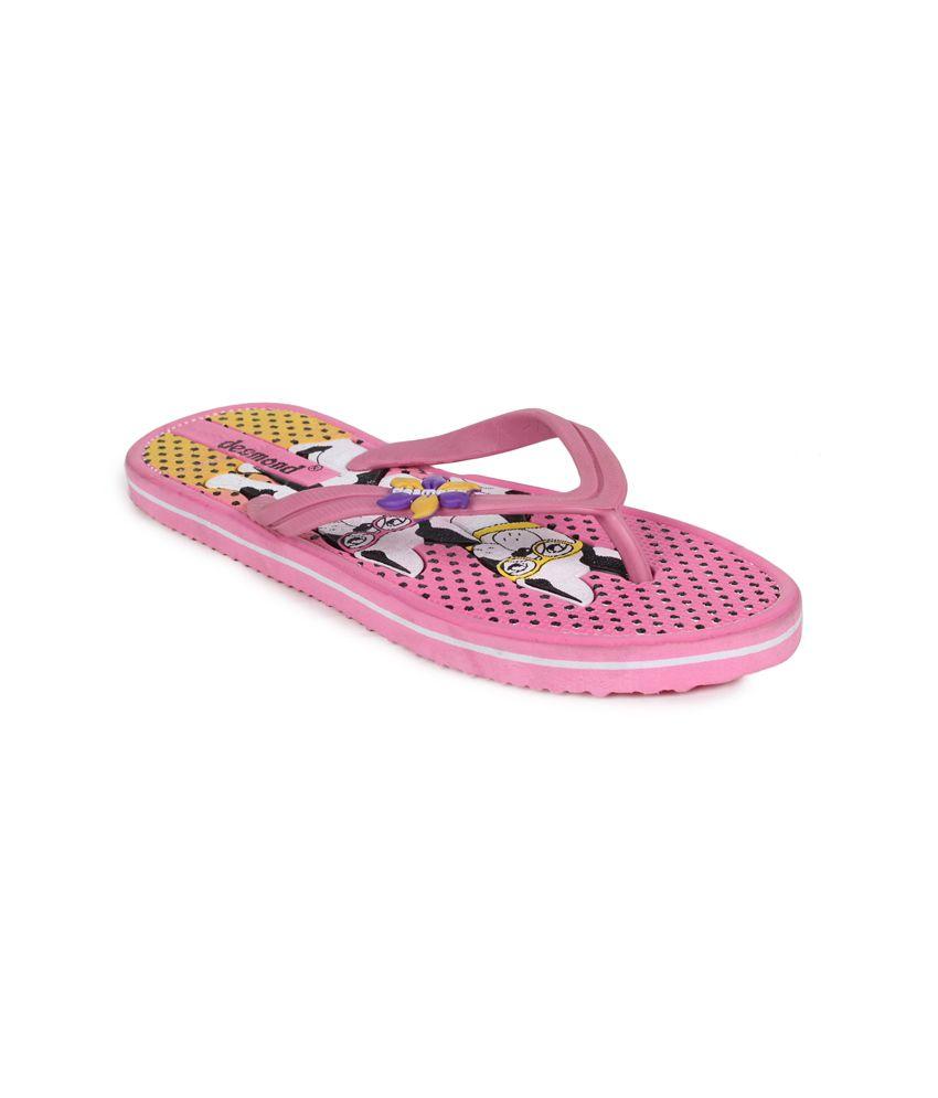 11e Pink Flat Flip Flops