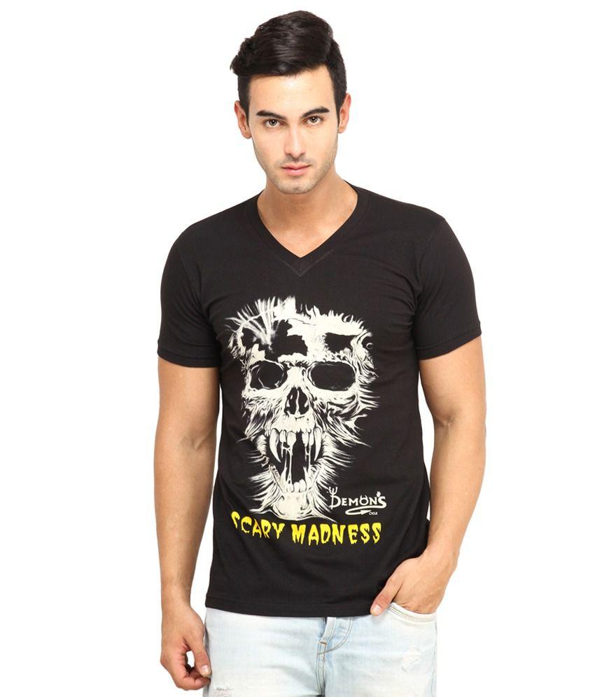 7b2d155903c6 Goa Men's Cotton V-Neck T-Shirt-Black - Buy Goa Men's Cotton V-Neck T-Shirt-Black  Online at Low Price - Snapdeal.com