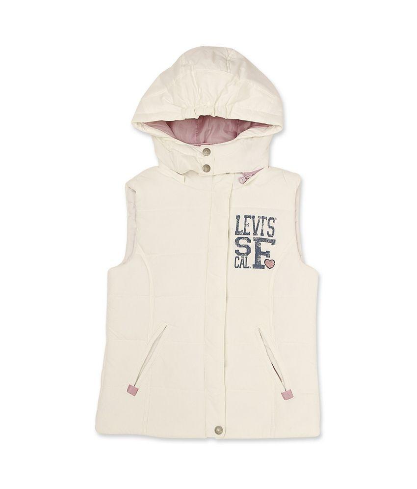 Levis Kids Open Air Cream Sleeveless Jacket For Kids