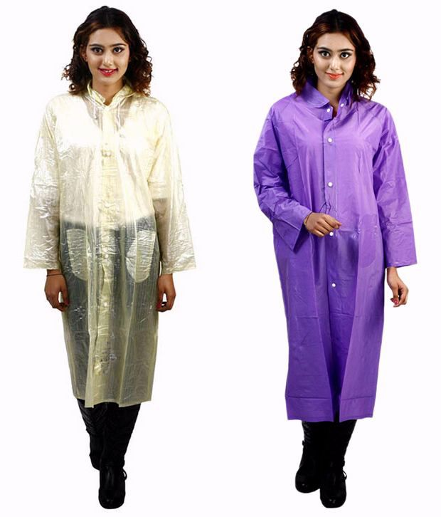 Rainfun Multi Color Waterproof Long Raincoat