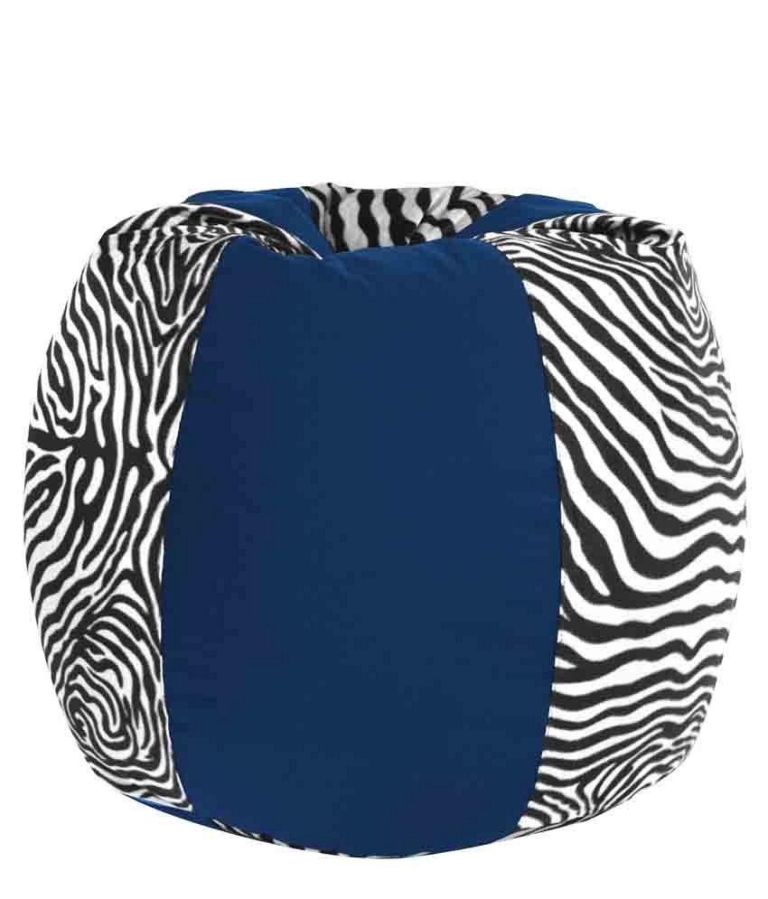 Sensational Dolphin Xxxl Fabric Bean Bag With Beans Royal Blue Zebra Print Caraccident5 Cool Chair Designs And Ideas Caraccident5Info