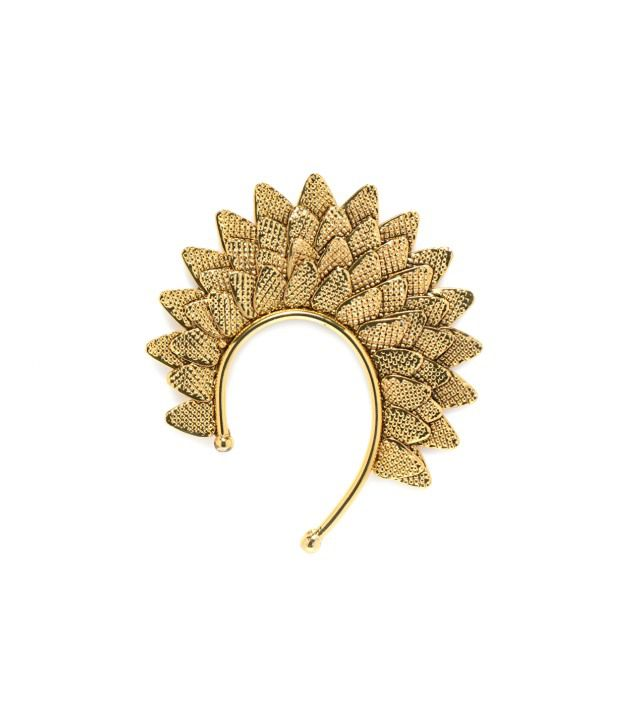 Alankruthi Leaf Gold Plated Ear Cuffs