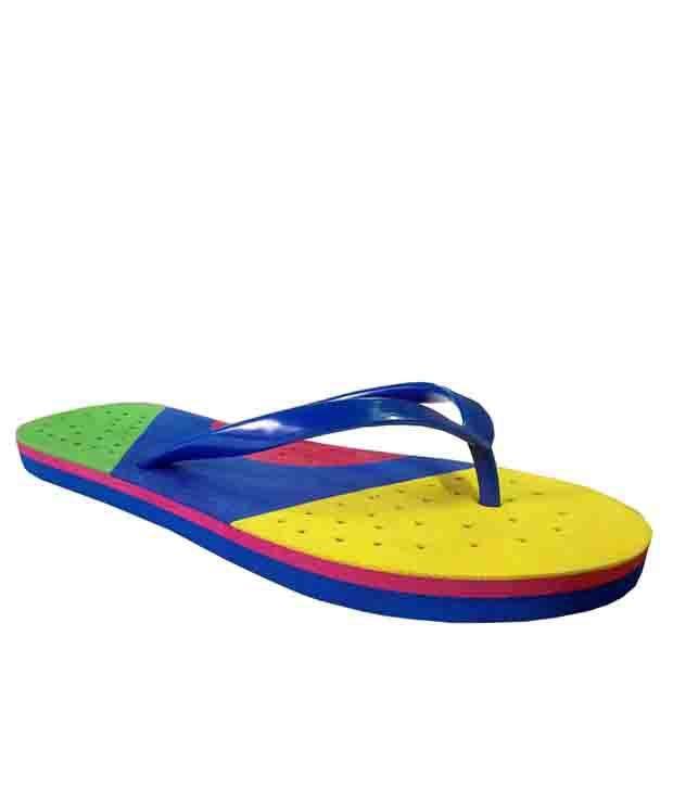Unispeed Blue Rubber Comfort Flip Flop
