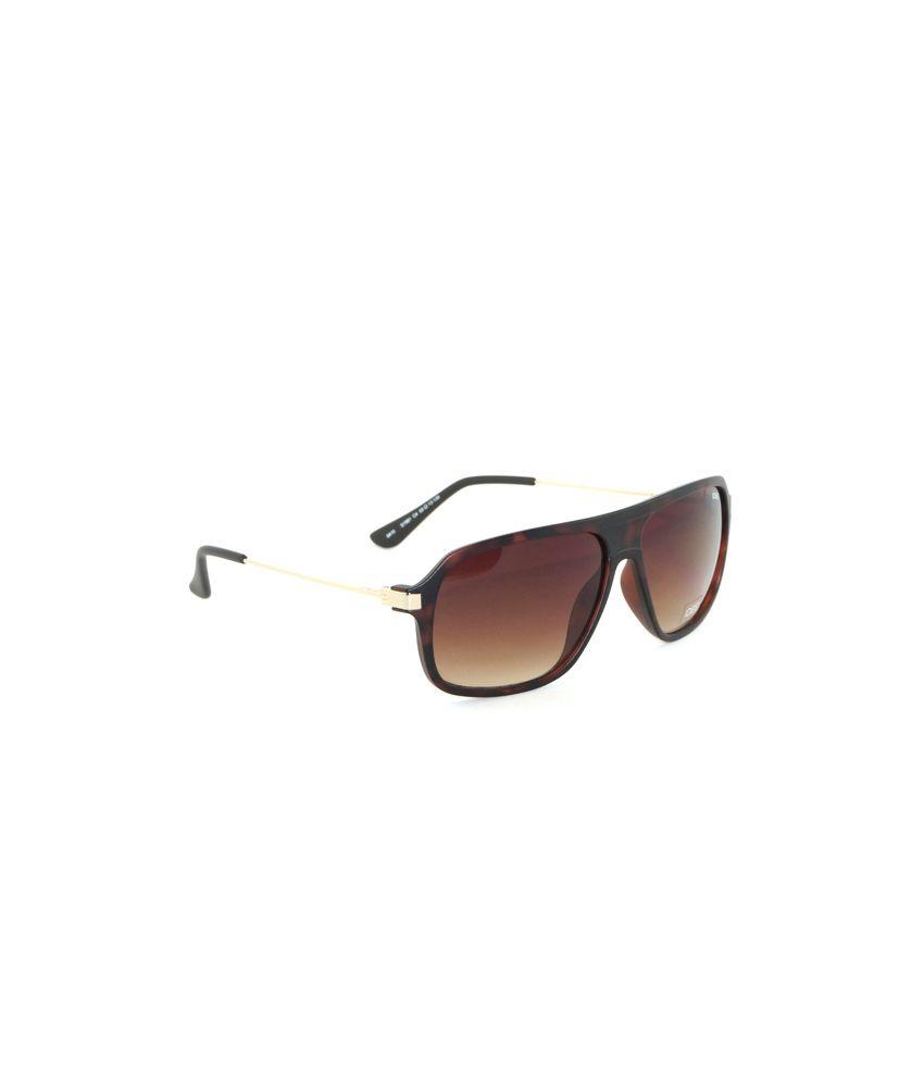 Idee IDEE-1981-C4 Brown Oversized Sunglasses