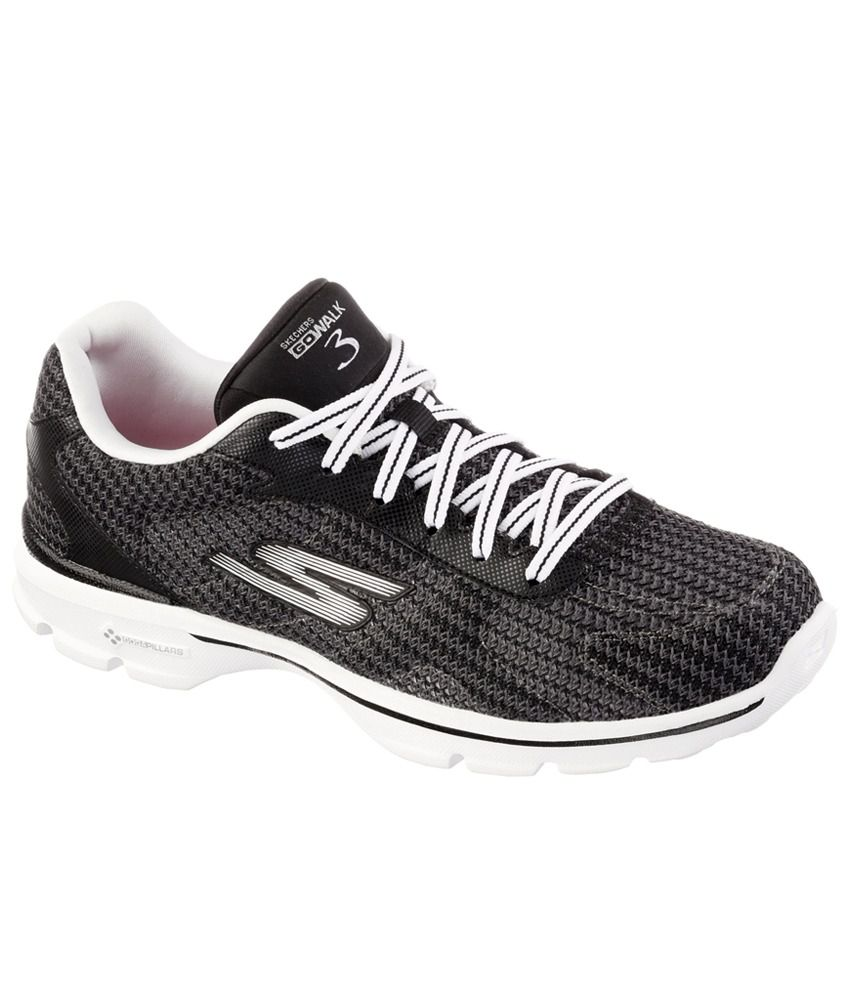 ba6651c1bf6 Skechers Go Walk 3-Fitknit Sports Shoes Price in India- Buy Skechers Go  Walk 3-Fitknit Sports Shoes Online at Snapdeal