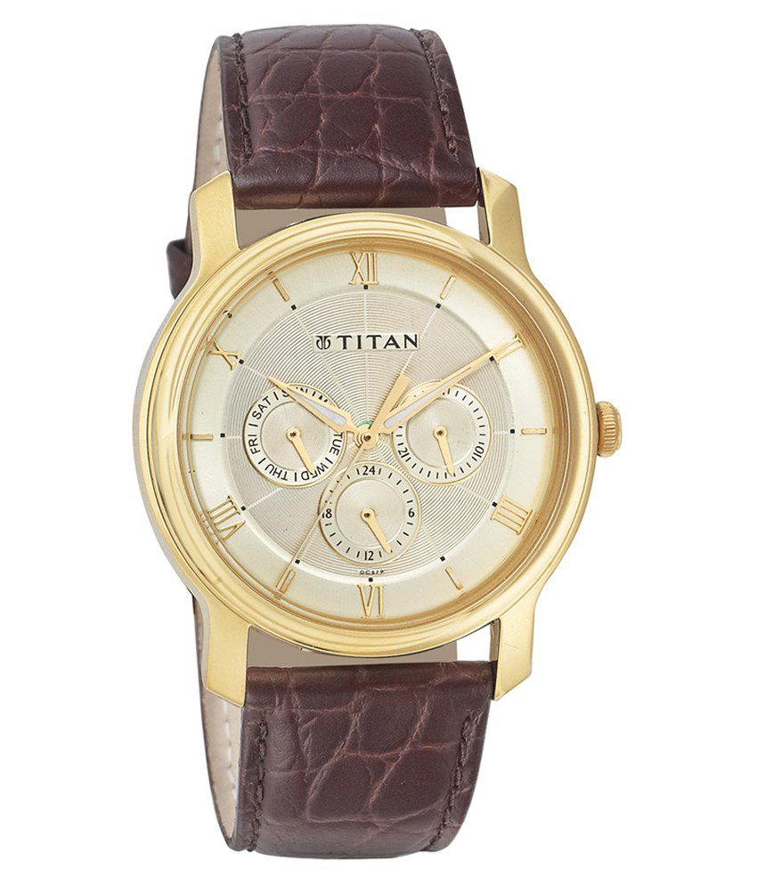 titan classique gold nf1618yl01 analog buy titan