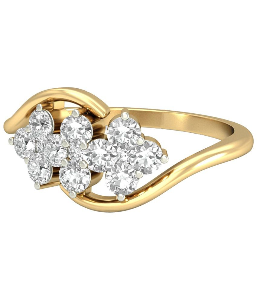 The Vanya Diamond Ring 14KT Gold WearYourShine by PC Jeweller