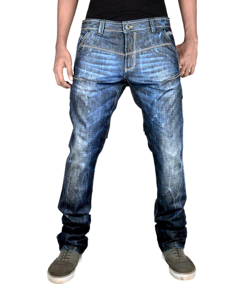 Blacksoul Blue Cotton Slim Fit Jeans