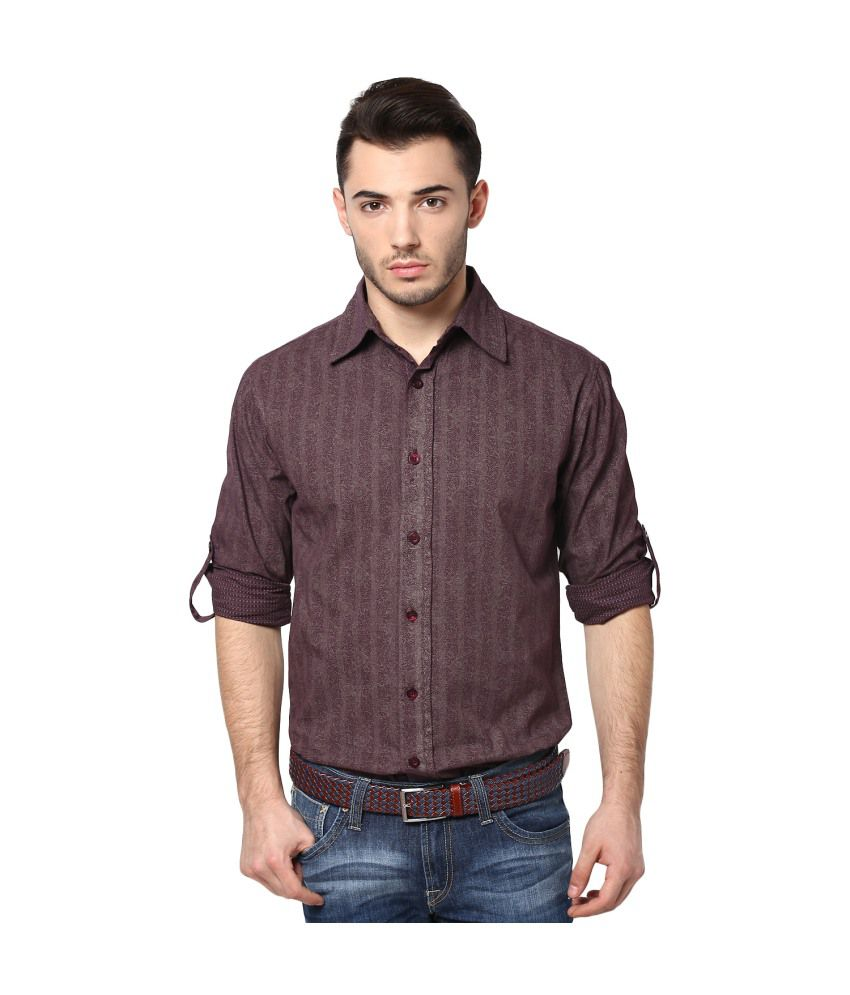 Punk Msg-14001 Shirt -Brown