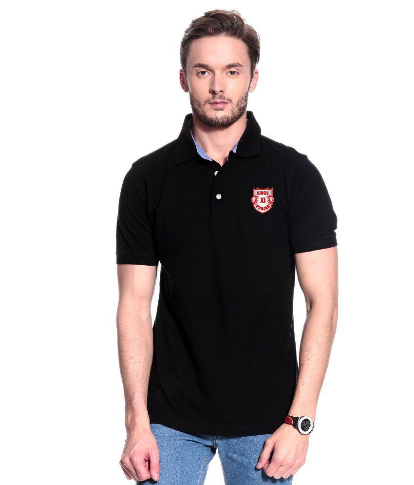 T10 Sports Black Polo T-Shirt