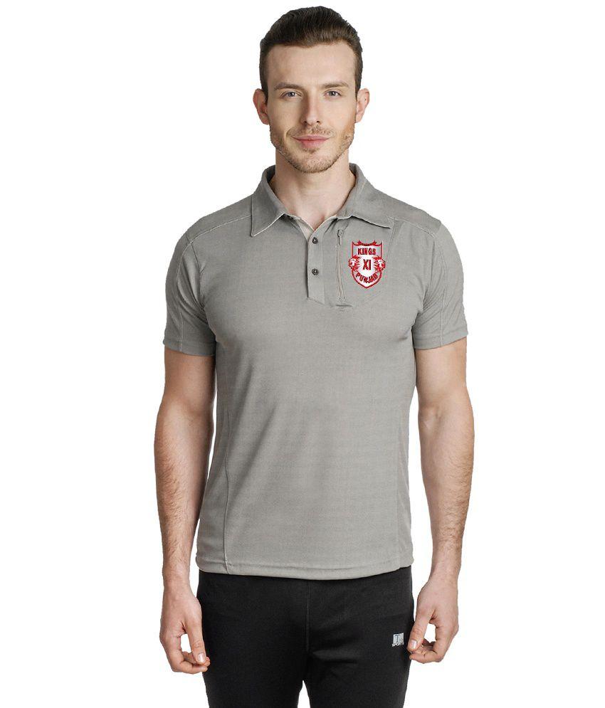 T10 Sports Gray Polo T Shirt
