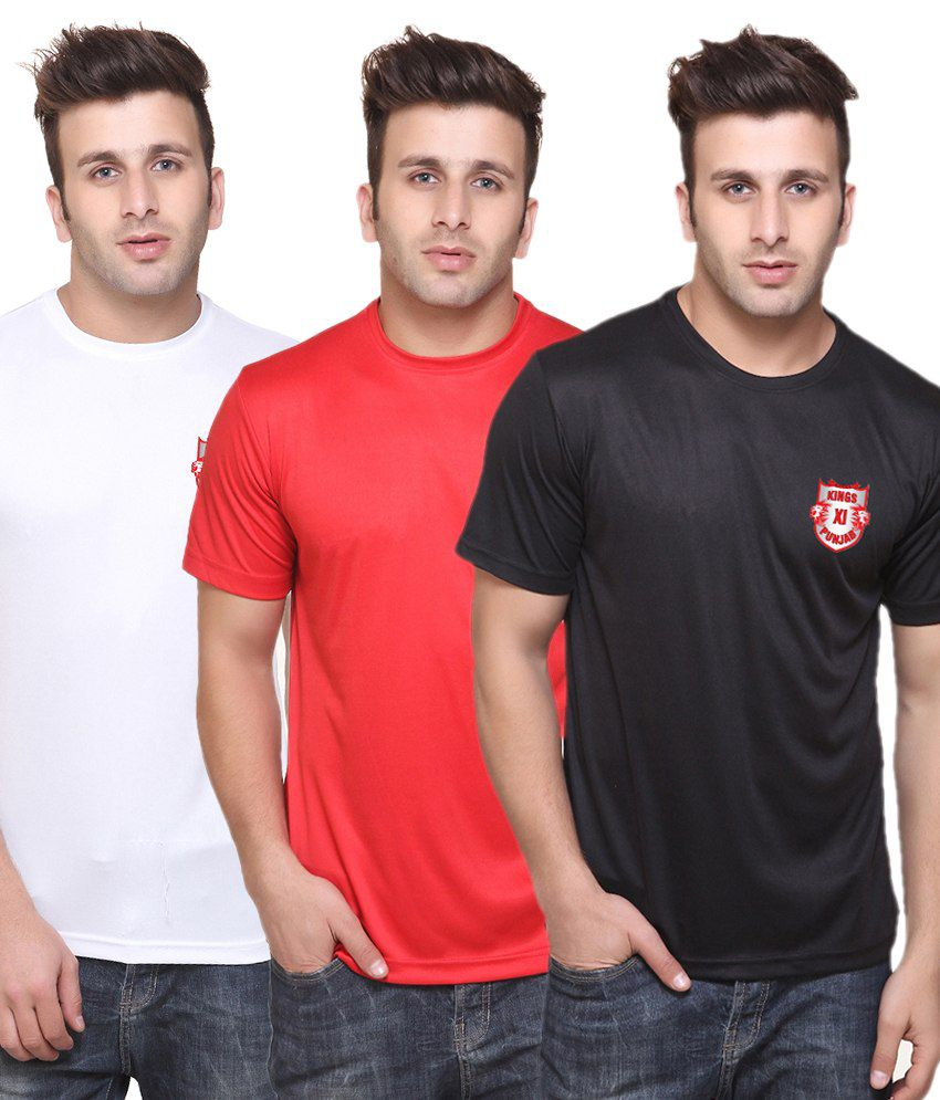 T10 Sports Multicolour T-Shirt - Set of 3