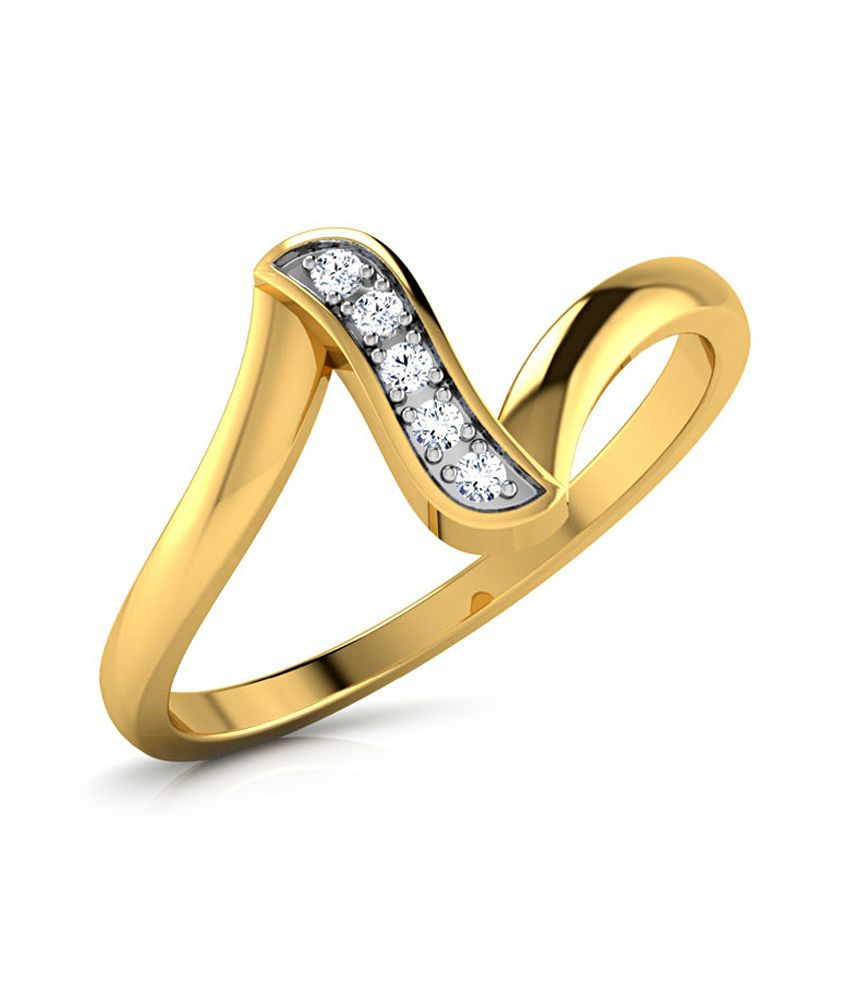 Caratlane 18 Kt Yellow Gold Diana Ring by CaraLane