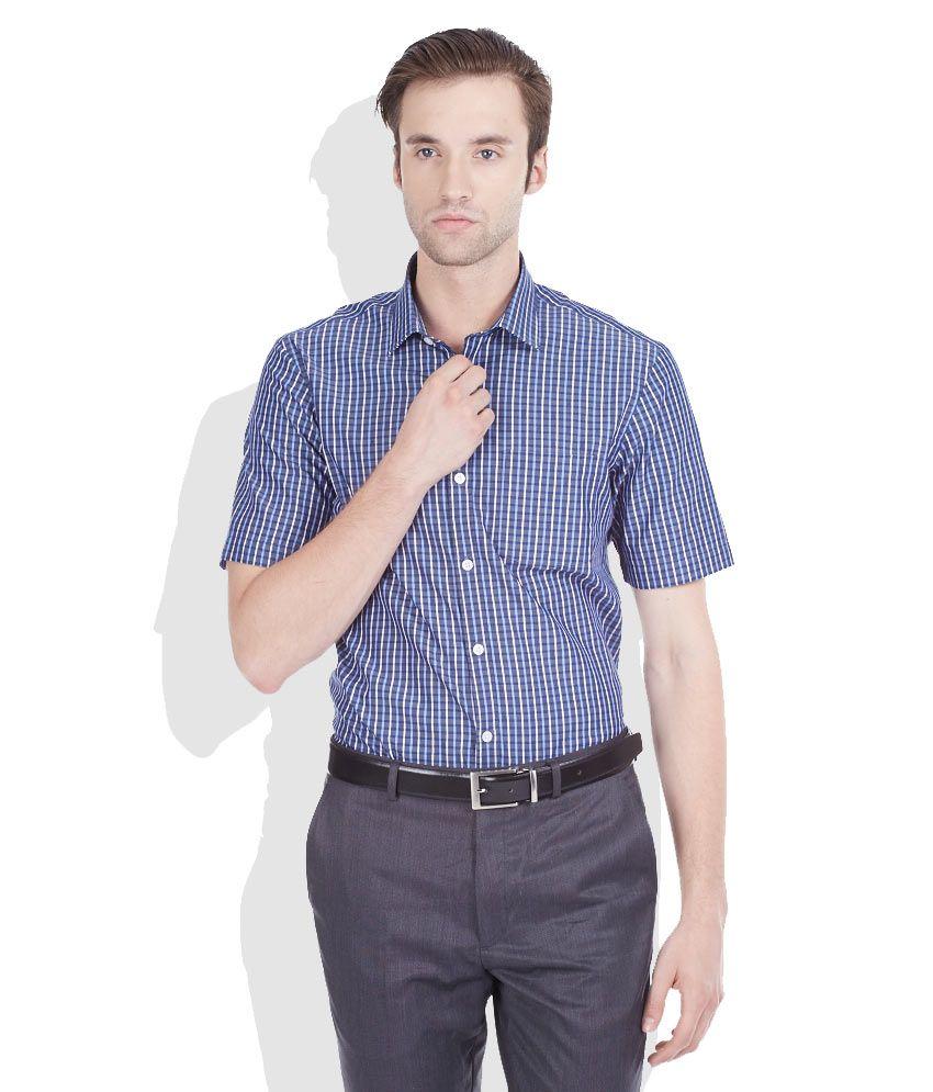 Arrow blue slim fit formal shirt buy arrow blue slim fit for Trim fit tuxedo shirt