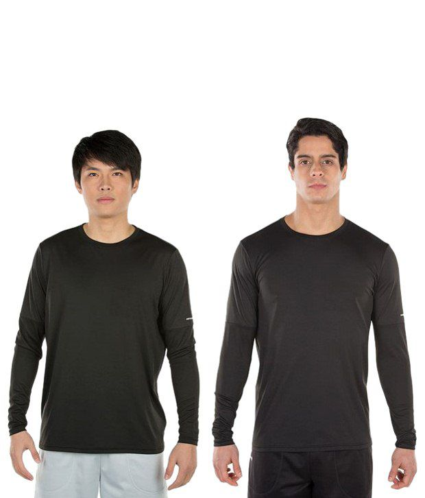 Artengo Black Badminton T Shirt for Men