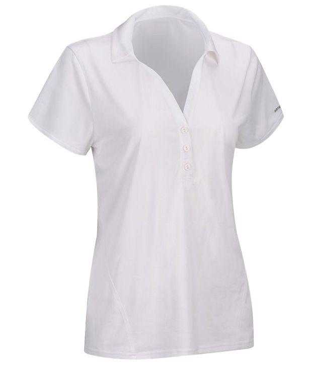 Artengo White Polo T Shirt for Girls