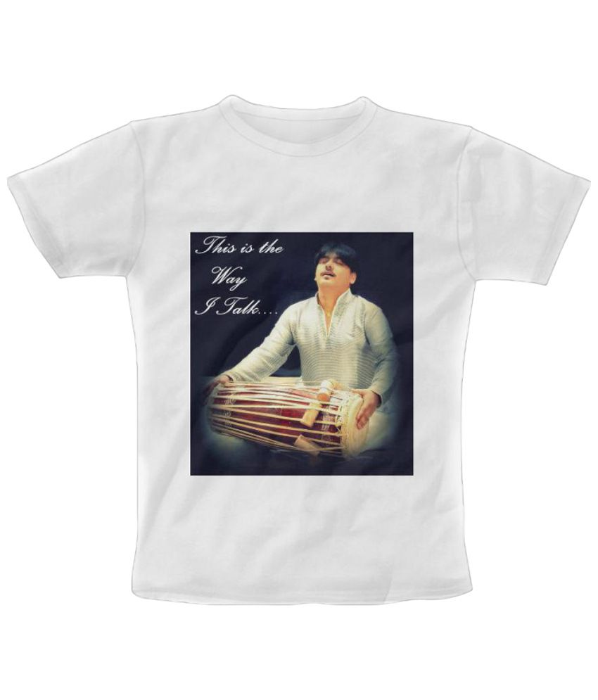 Freecultr Express Musical Talking Graphic Black & Brown Half Sleeve T Shirt