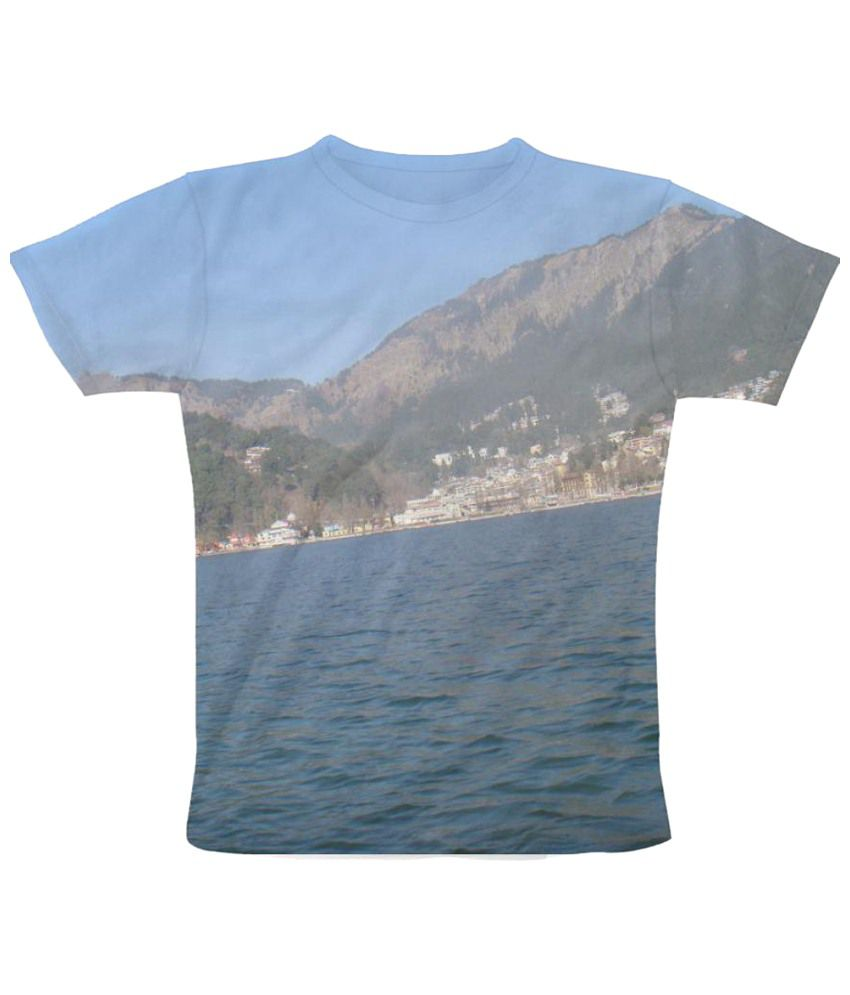 Freecultr Express Nainital Graphic Blue Half Sleeve T Shirt