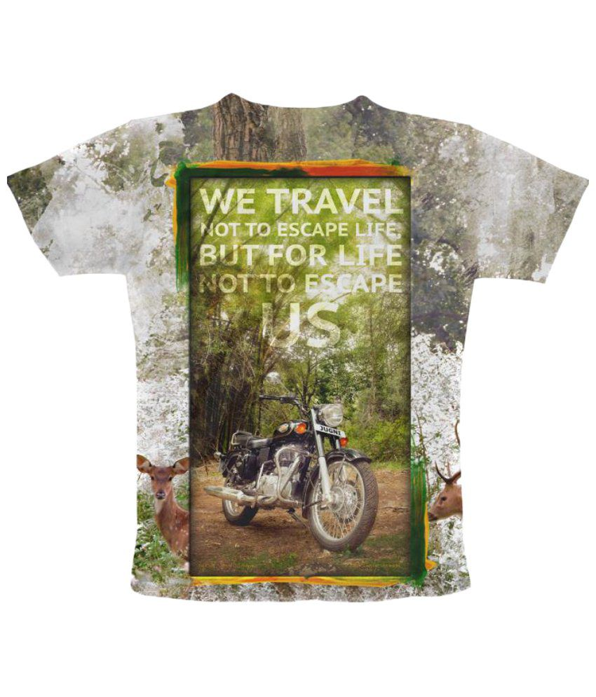 Freecultr Express We Travel Graphic Multicolour Half Sleeve T Shirt