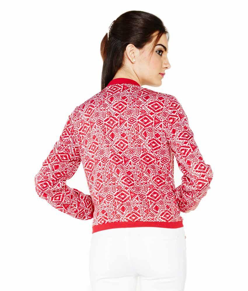 Buy Globus Red Polyester Blend Jackets Online at Best
