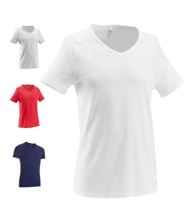 Domyos V-Neck T-shirt Fitness Apparel