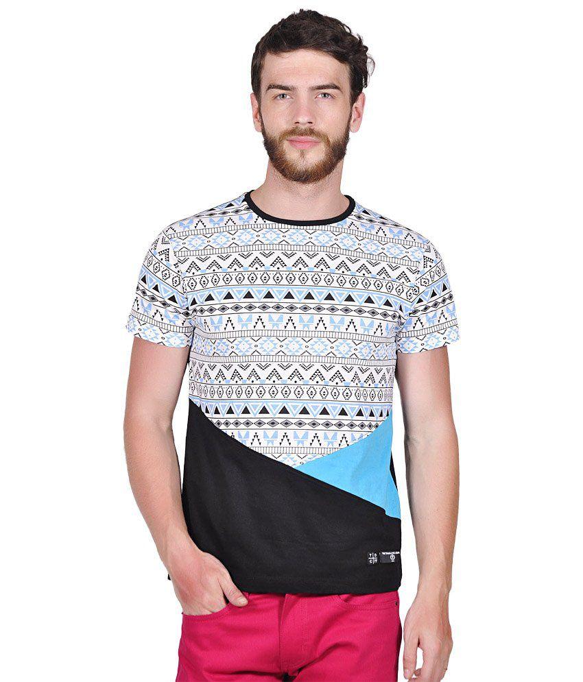 Tiktauli de. Corps. Cotton Black Foulsham Cut & Sew T-Shirt