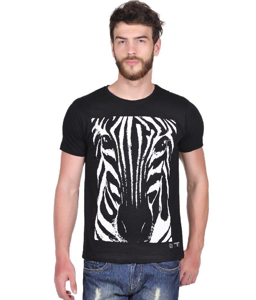Tiktauli de. Corps. Cotton Black Zebra Print T-Shirt