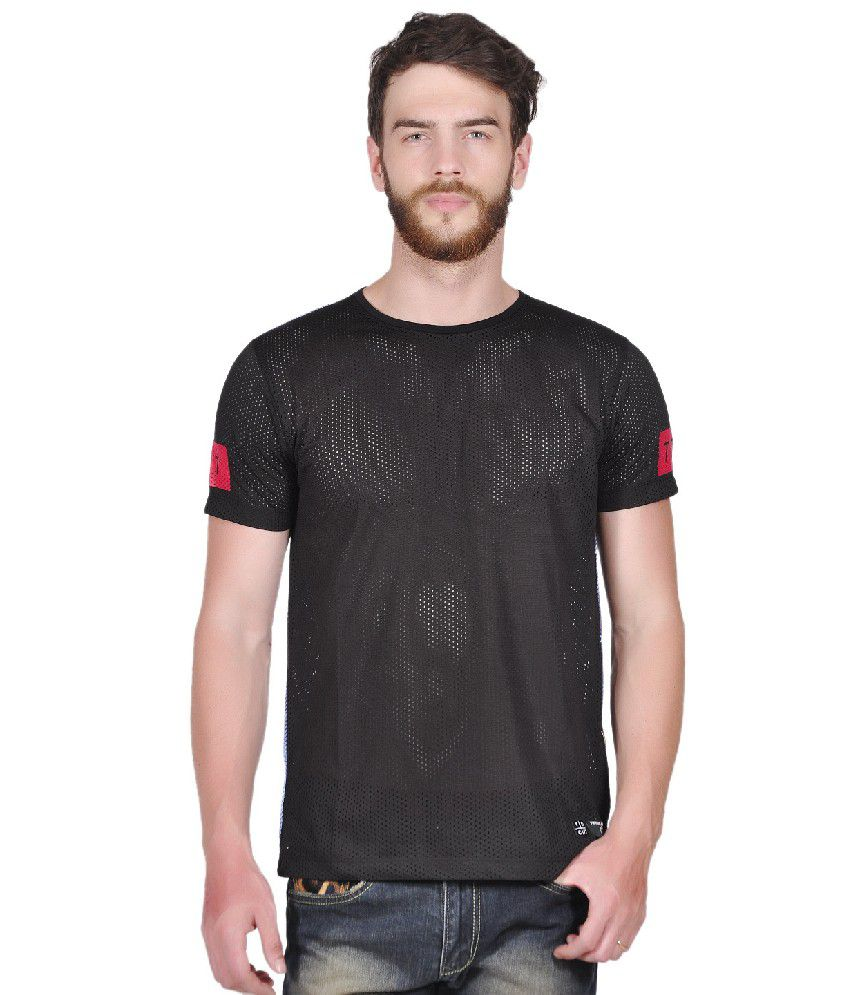 Tiktauli de. Corps. Polyester Black Rude Sublimate T-Shirt