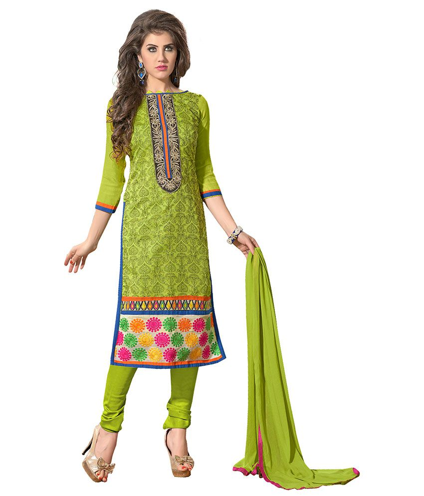 042fe75e77 7 colors lifestyle Green and Beige Unstitched Dress Material - Buy 7 colors lifestyle  Green and Beige Unstitched Dress Material Online at Best Prices in ...