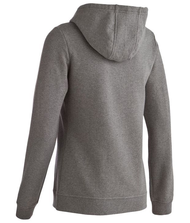 Domyos Gray Hooded Sweater For Women