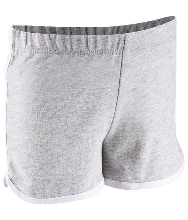 Domyos Gray Side Band Unisex Fitness Shorts