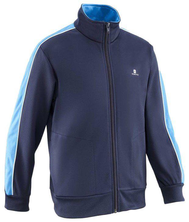 Domyos Marine Blue Full Sleeves Fitness Jacket For Boys