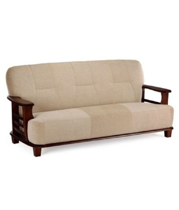 Teak Wood 5 Seater Sofa Set 3 1 1 Cream Buy Teak