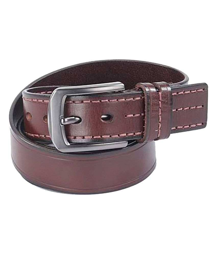Leather Talks Maroon Leather Casual Belt