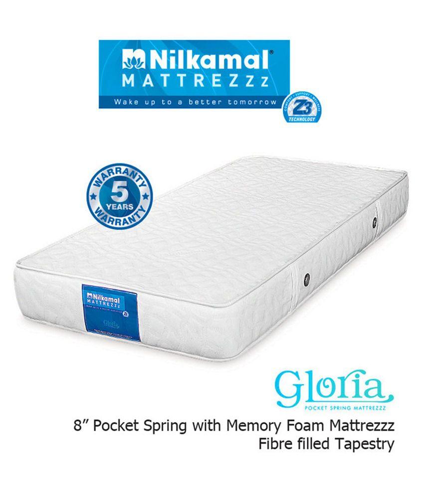 nilkamal gloria 8 inches pocket spring mattress buy nilkamal