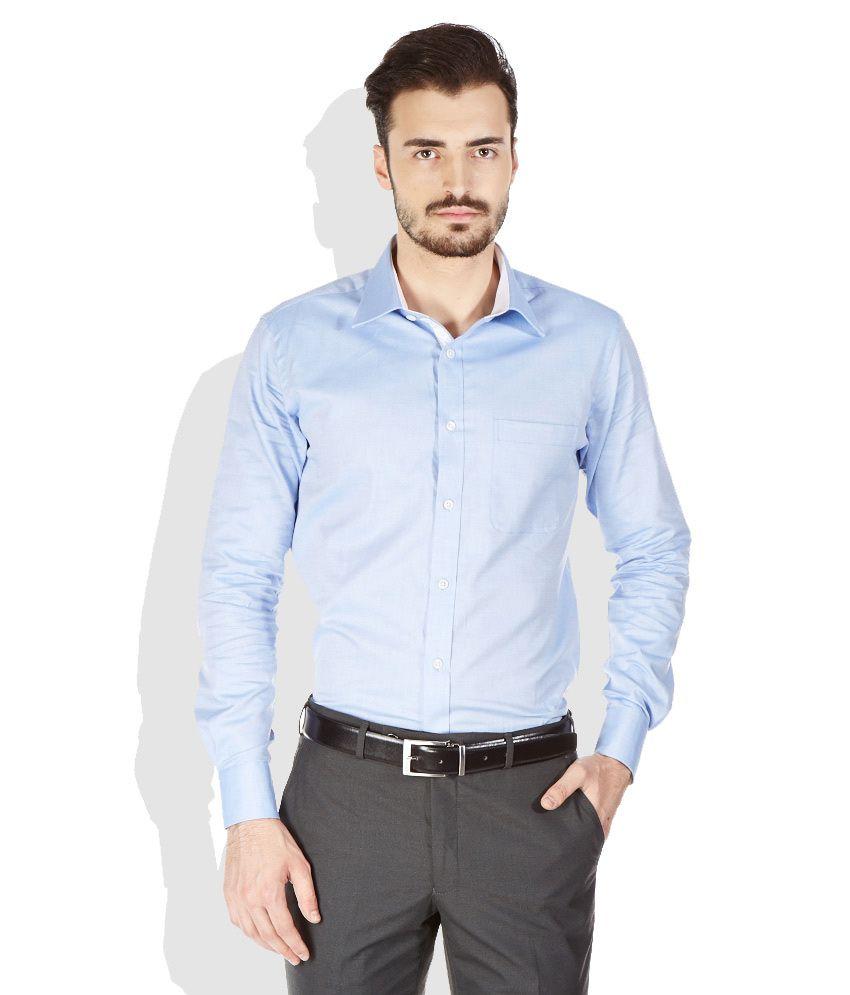 Raymond blue slim fit formal shirt buy raymond blue slim for Trim fit tuxedo shirt