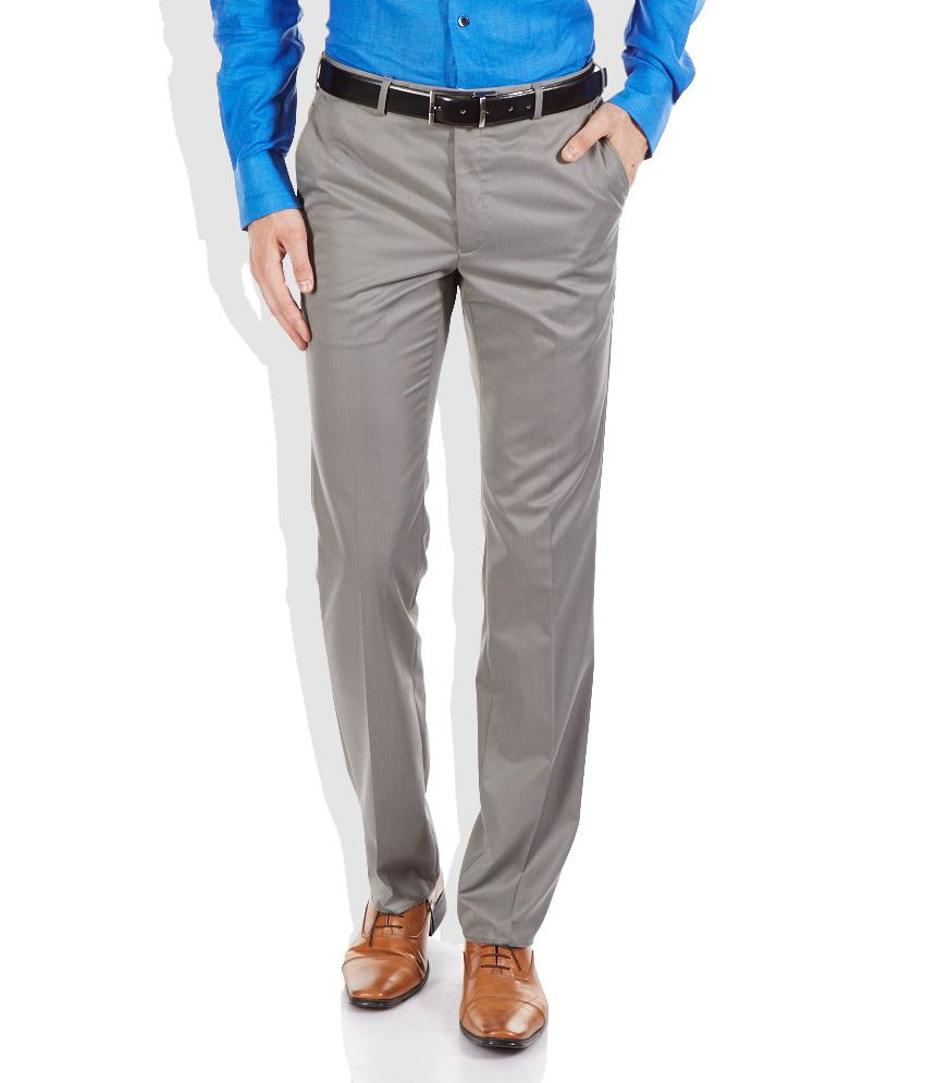 Raymond Gray Contemporary Fit Formal Trousers