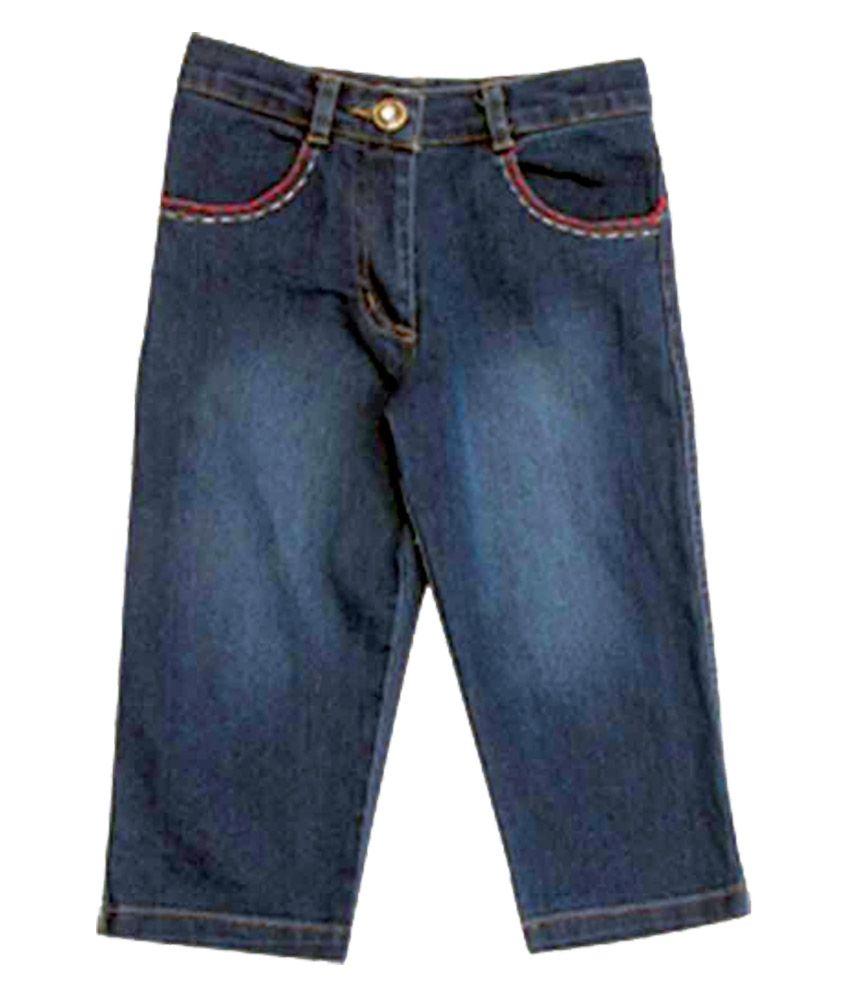 Riya N Zone Blue Cotton Shorts