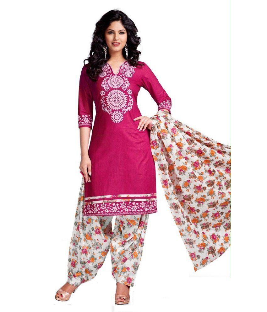 Meetali Fashion Multi Color Cotton Unstitched Dress Material