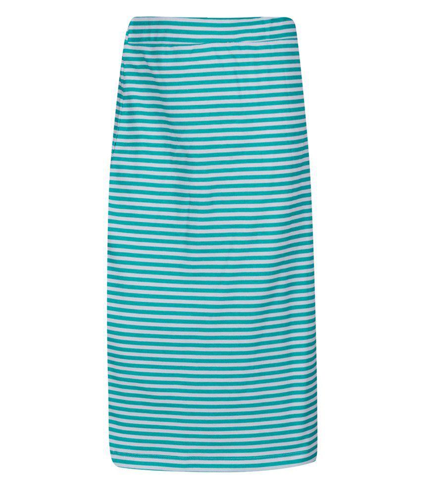 Miss Alibi Green Cotton Skirt