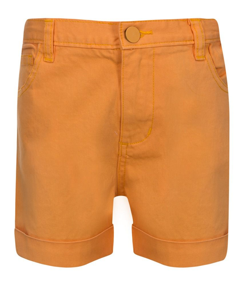 Miss Alibi Orange Cotton Shorts